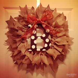 Burlap Monogram Wreath