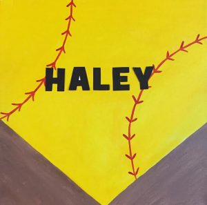 Personallized Softball Home Plate