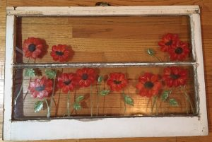 Antique Window Poppies