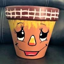 COME PAINT! - Scarecrow Flower Pot @ Kentuckiana Kampground