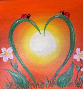 COME PAINT! - Kentuckiana Kampground - Ladybug Heart @ Kentuckiana Kampground